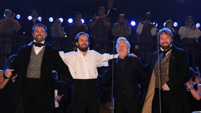 Alfie Boe (second from left) and John Owen-Jones (far right) will share the role of Jean Valjean