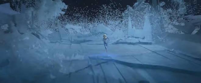 Elsa crossing the ocean