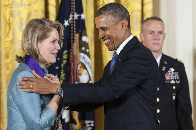 Barack Obama presents Renée Fleming with the National Medal of Arts