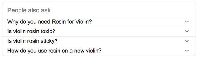 Rosin Google questions