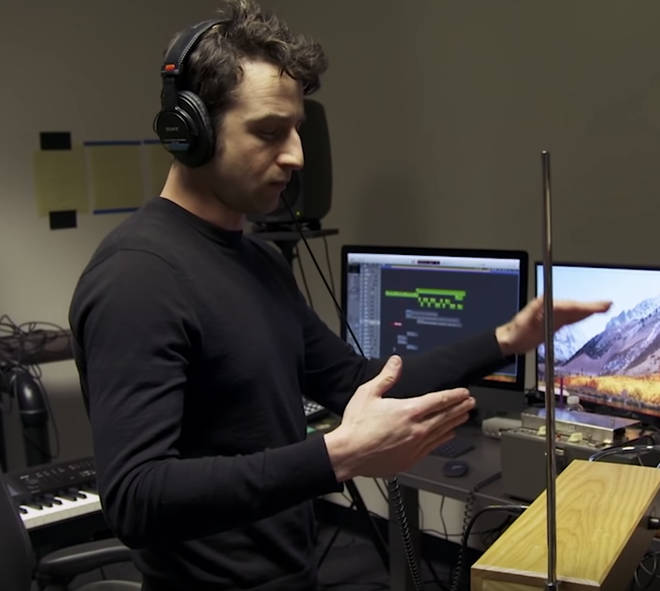 Justin Hurwitz playing the theremin