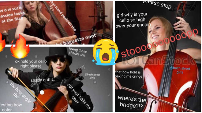 Stock photos of models playing cellos