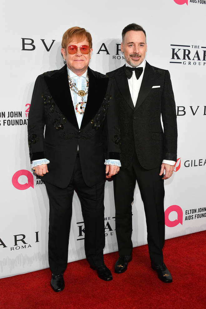 Elton John and David Furnish attend AIDS Foundation's 17th Annual Benefit
