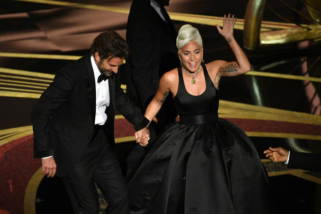 Lady Gaga and Bradley Cooper received a standing ovation