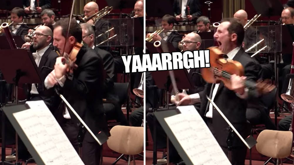 This violist just started plain yelling in the middle of a concerto – and it was terrifying