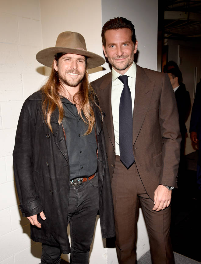 Bradley Cooper and Lukas Nelson attend 'A Star Is Born' Premiere