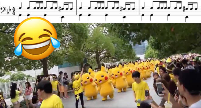 Pikachu march soundtracked by the Imperial March