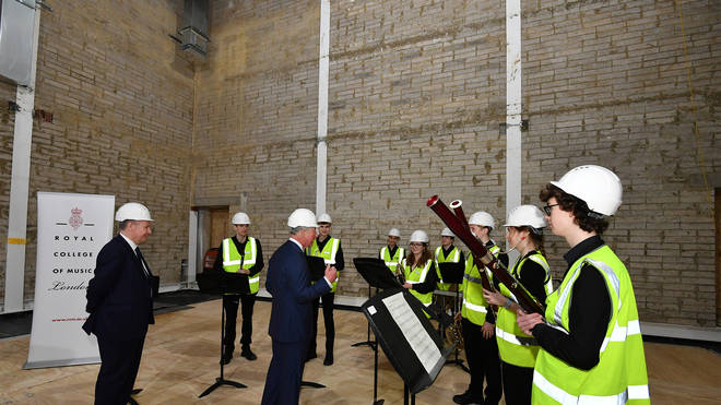 Royal College of Music windband performs for HRH The Prince of Wales