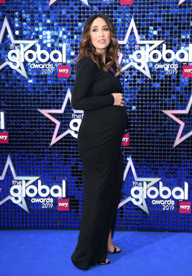 Myleene Klass on the blue carpet at The Global Awards 2019 with Very.co.uk