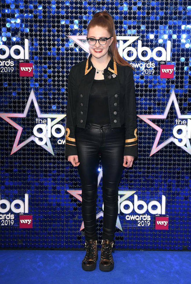 Jess Gillam arrives at The Global Awards 2019 with Very.co.uk
