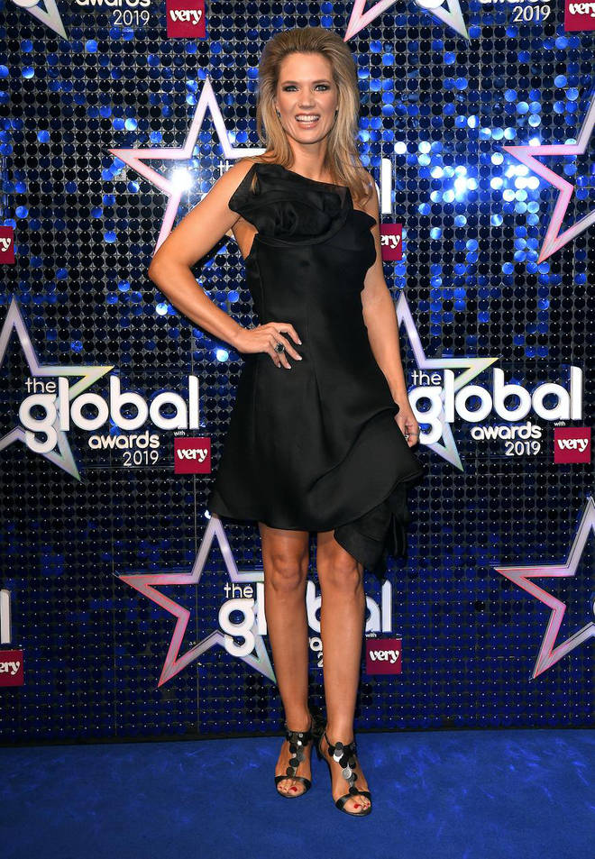 Charlotte Hawkins arrives at The Global Awards 2019 with Very.co.uk