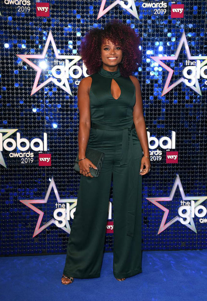 Fleur East arrives at The Global Awards 2019 with Very.co.uk