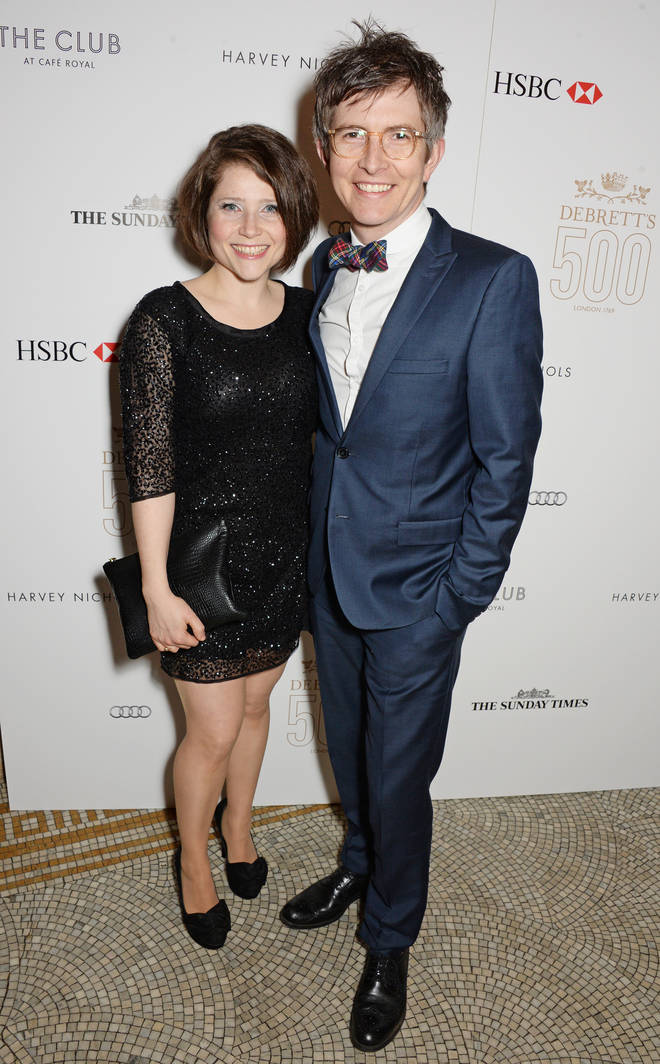 Gareth Malone with his wife, Becky at Debrett's 500 Event