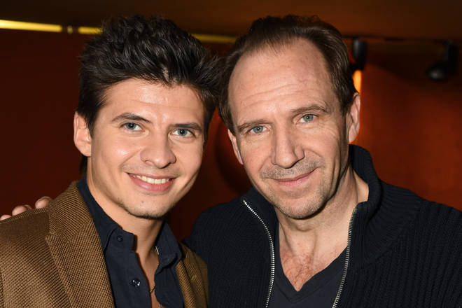 Oleg Ivenko (Rudolf Nureyev) and Ralph Fiennes at 'The White Crow' Screening