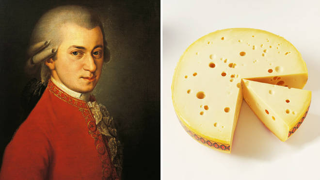 Playing Mozart to cheese