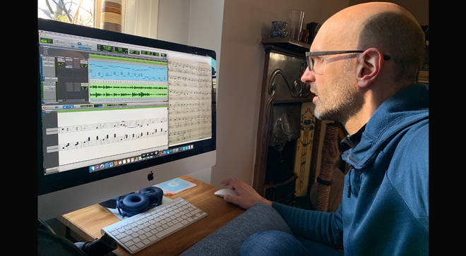 Steve Castle creating a digital recording of the waltz