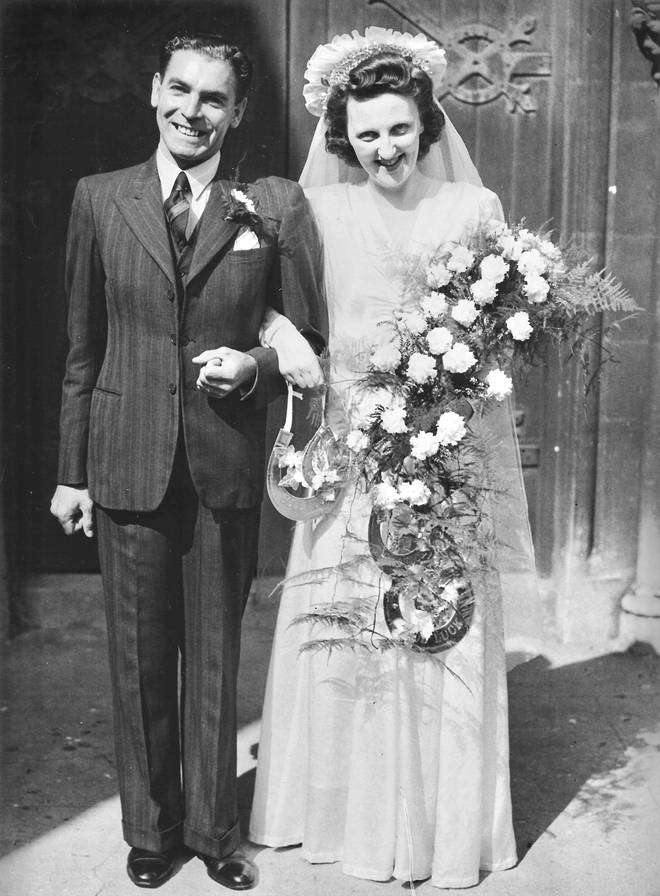 Stan and Violet on their wedding day