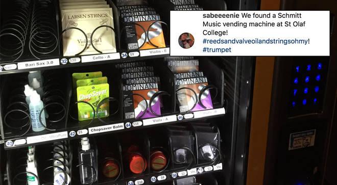 Musical vending machine