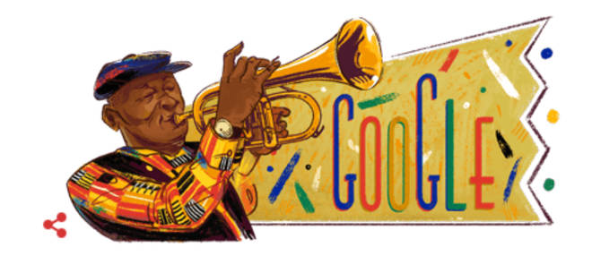 Today's Google Doodle celebrates Hugh Masekela