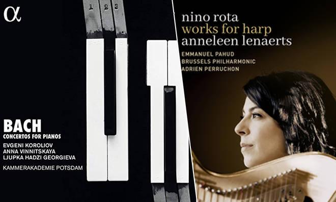 New Releases: Bach: Concertos for Pianos – Koroliov, Vinnitskaya, Georgieva; Nino Rota: Works for Harp – Anneleen Lenaerts