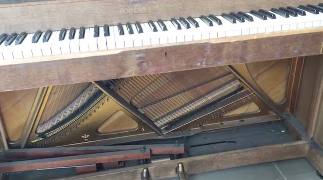 The piano was damaged beyond repair