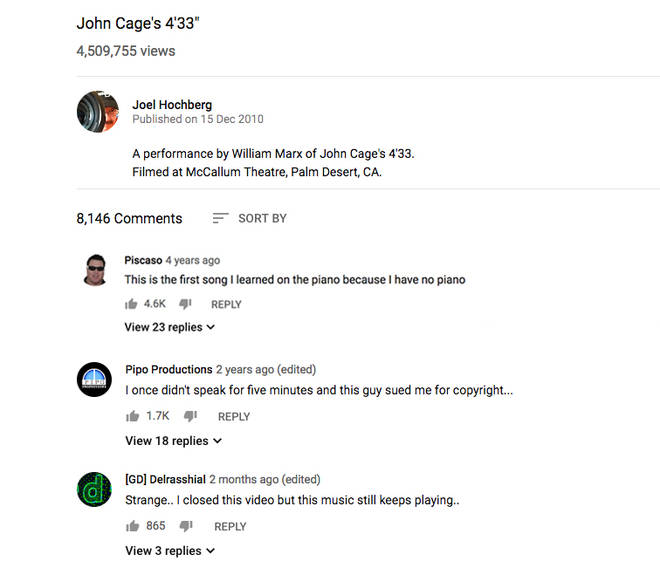 YouTube Cage comment