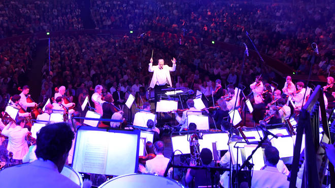 Outstanding views from the stage of the Royal Albert Hall