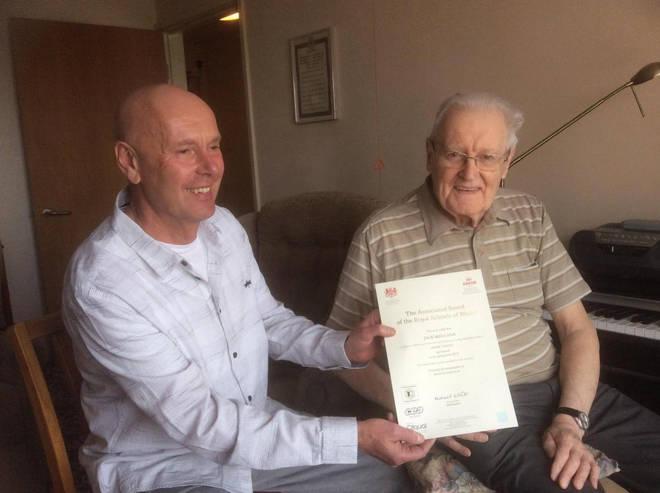 89-year-old man passes piano exam