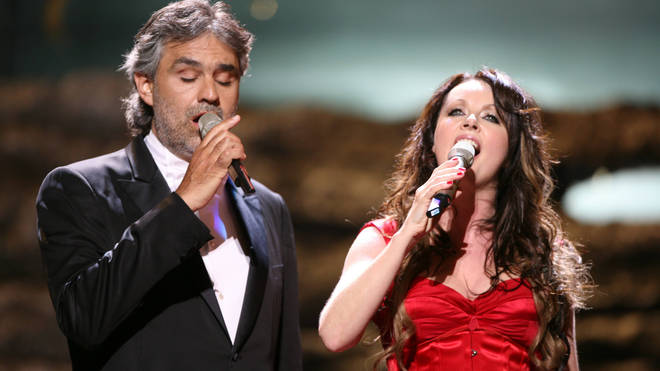 Andrea Bocelli and Sarah Brightman at the Classical Brit Awards