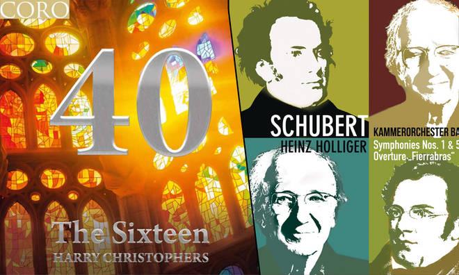 New Releases: 40 – The Sixteen; Schubert Symphonies Nos. 1 & 5 – Heinz Holliger & Kammerorchester Basel