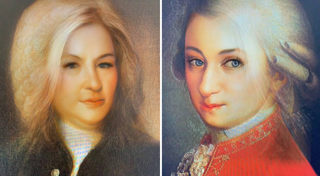 Bach and Mozart – through the new gender-swapping Snapchat filter
