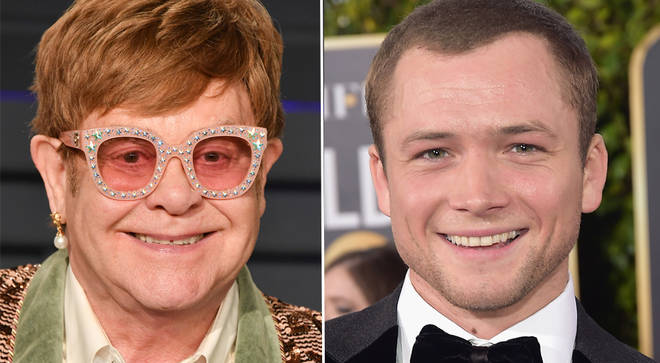 Pictured: Elton John and Taron Egerton