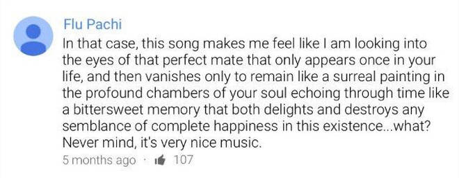 YouTube comment