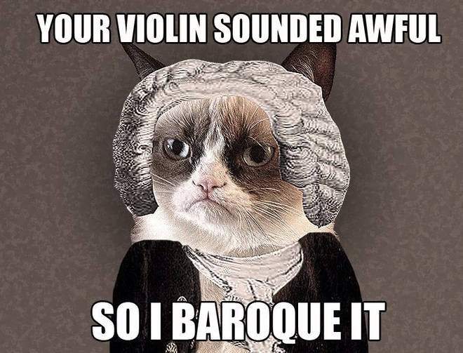 Baroque grumpy cat