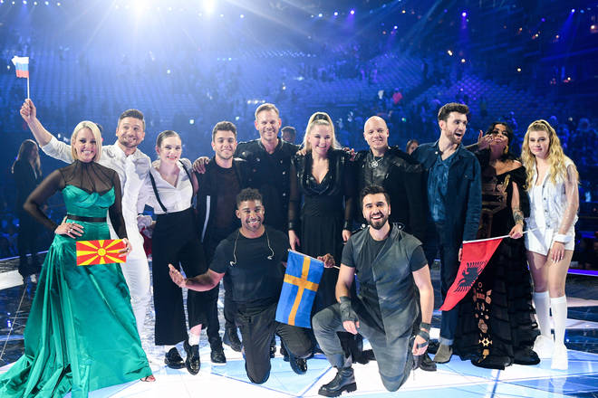 Eurovision Song Contest contestants celebrate making it to the 2019 Second Semi-Final