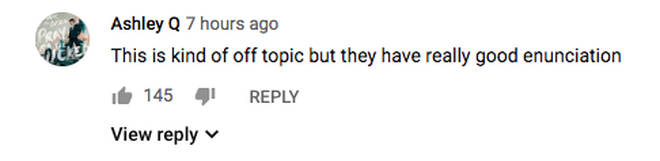 YouTube comment on 'A Whole New World'