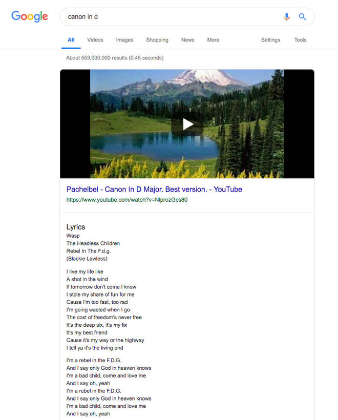 The real lyrics to Pachelbel's Canon