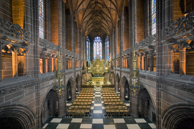 Liverpool's Anglican Cathedral, Merseyside