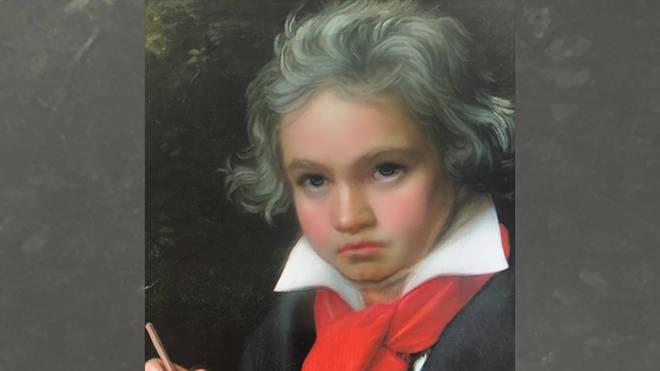 Beethoven Snapchat baby filter