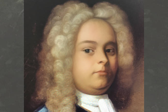 Handel through the Snapchat baby filter