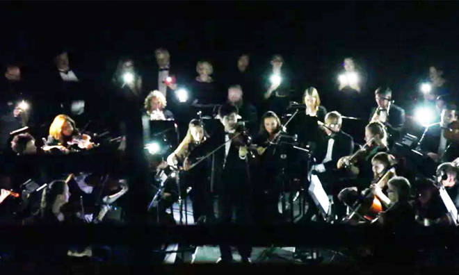 Bloomington Symphony Orchestra performed by torch light