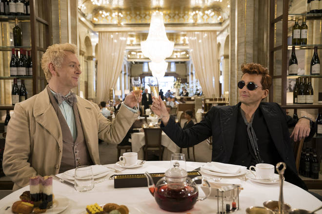 David Tennant stars as the demon in Good Omens Amazon Prime TV series