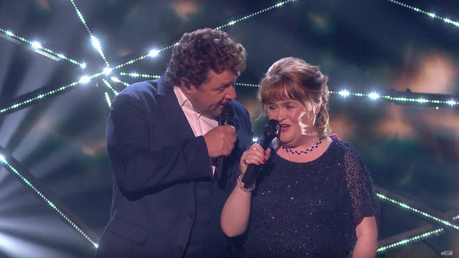 Michael Ball and Susan Boyle on Britain's Got Talent
