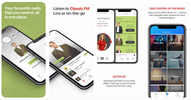 Classic FM app Global Player