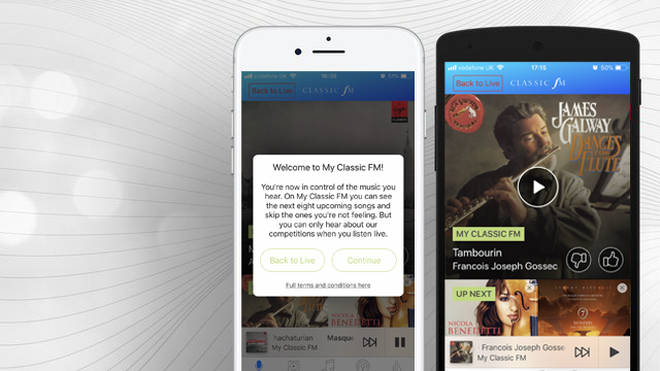 Classic FM Global Player app featuring 'My Classic FM'