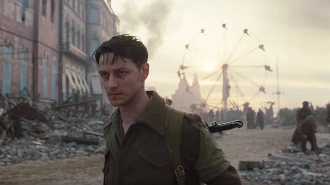 James McAvoy in 'Atonement' Dunkirk beach scene 2007