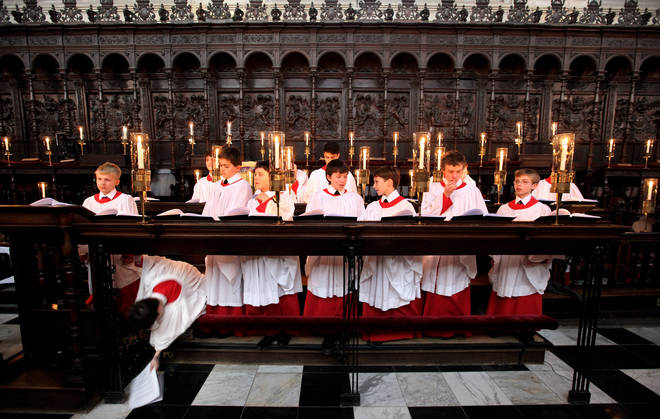 King's College Choir rehearse 'A Festival of Nine Lessons and Carols'