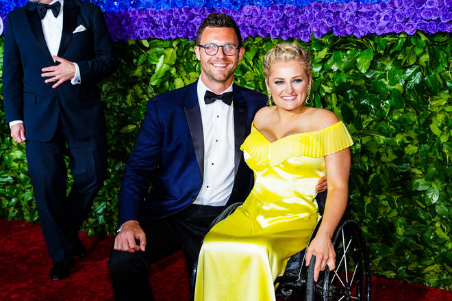 Ali Stroker and David Perlow attend the 73rd Tony Awards