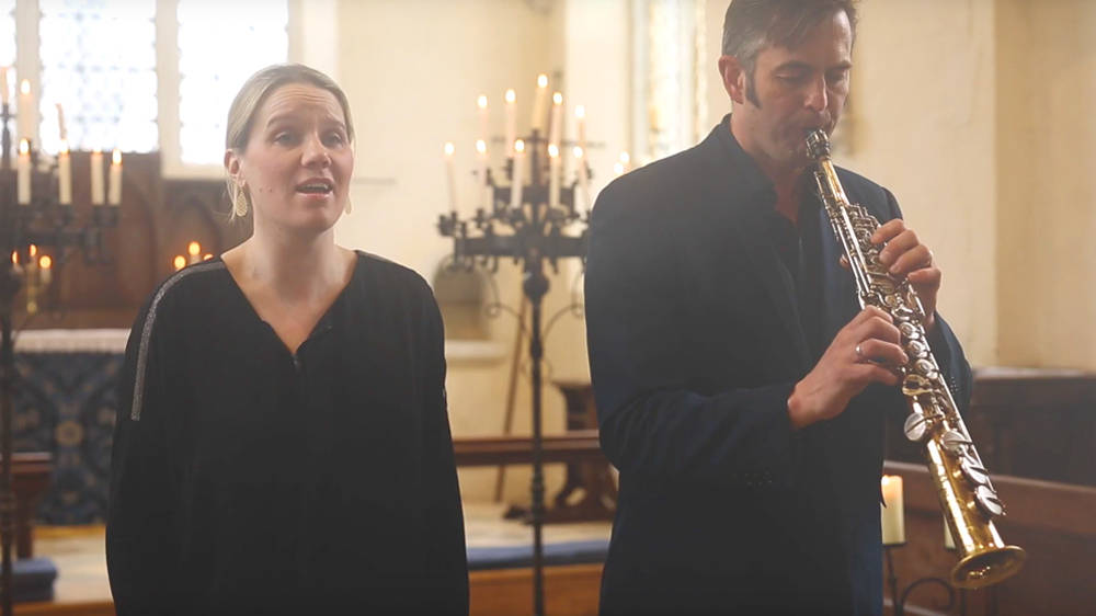 This stunning version of Handel's 'Eternal Source of Light Divine' for voice and saxophone is spine-tingling