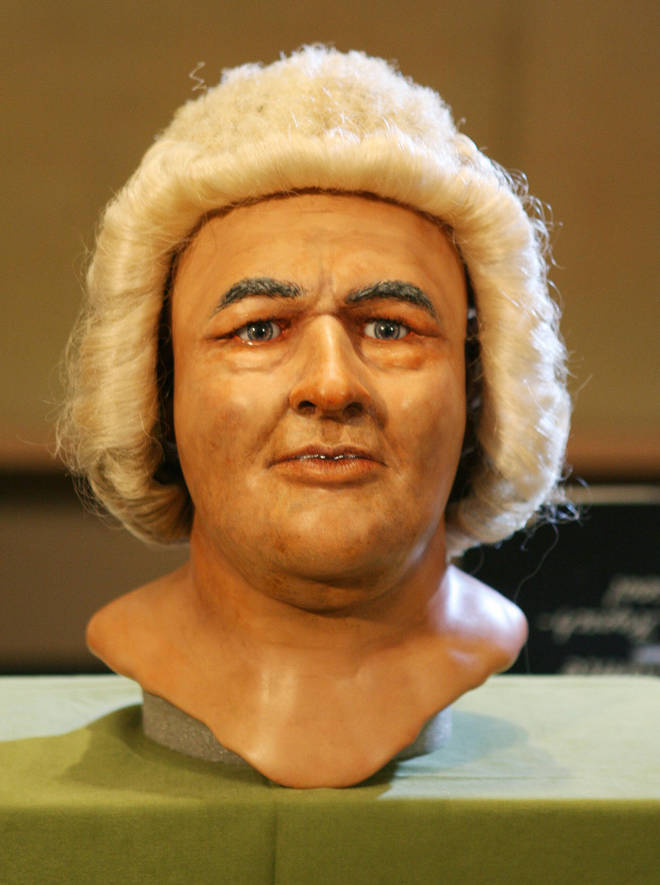 Reconstruction of Bach's face